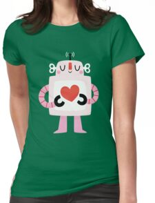 Love Robot Womens Fitted T-Shirt