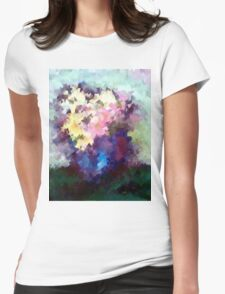 Flower Vase still life oil painting Womens Fitted T-Shirt