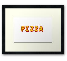 Pizza Graphic Framed Print