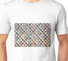 3D Textured Floral Background Unisex T-Shirt