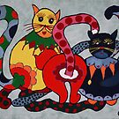 Carneval cats by Oehmig Birgit