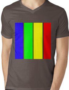 .Rainbow Stripes. .11% Tiled. Mens V-Neck T-Shirt