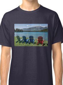 Colourful Chairs at Jasper Park Lodge, Alberta, Canada Classic T-Shirt