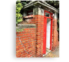 Public Telephone Booth Canvas Print