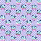 Blueberry Cupcake Stripes Pattern by SaradaBoru