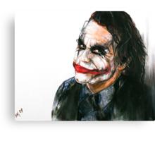 Portrait: Joker's Smile Canvas Print