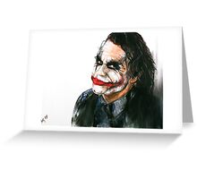 Portrait: Joker's Smile Greeting Card