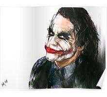 Portrait: Joker's Smile Poster