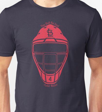Thou Shalt Not Steal Catchers Mask - Red Unisex T-Shirt