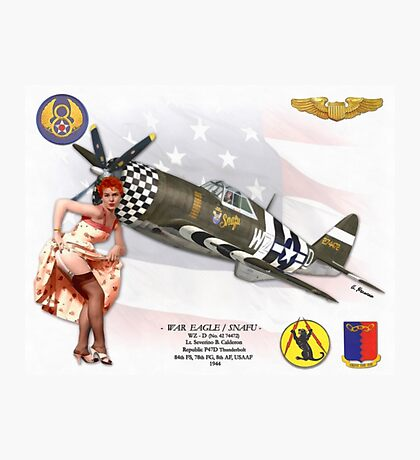 War Eagle / Snafu (Republic P47D Thunderbolt) Photographic Print