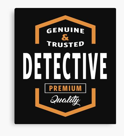 Genuine Detective T-shirt  Canvas Print