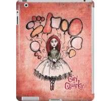 Girl Quirky Floating Free iPad Case/Skin