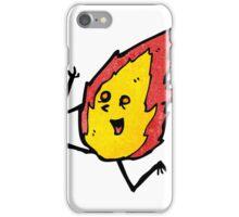 running flame cartoon character iPhone Case/Skin