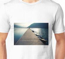 Wooden lake pier Unisex T-Shirt