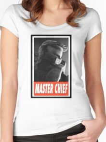 -GEEK- Master Chief Women's Fitted Scoop T-Shirt
