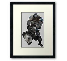 Team Fortress 2 - Heavy Robot w/ Minigun (BLU) [Vector] Framed Print
