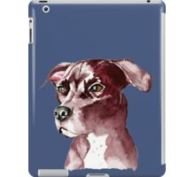 Monochromatic Pit Bull Dog Watercolor Painting iPad Case/Skin