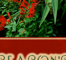 Season's Greetings Holiday Card - Crocosmia Sticker