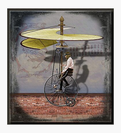 Red Rooster Heliocycle Photographic Print