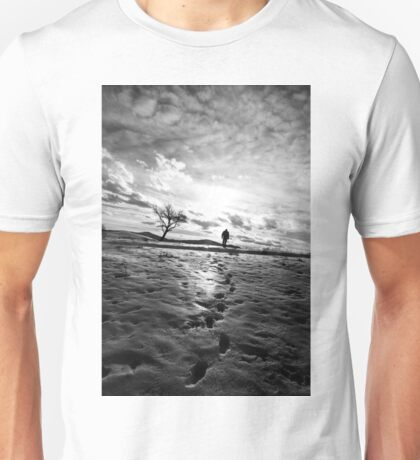Footprints and silhoutted Unisex T-Shirt