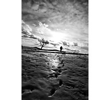 Footprints and silhoutted Photographic Print