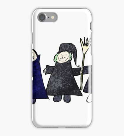 child's drawing of a halloween group iPhone Case/Skin