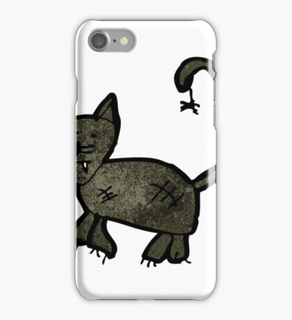 child's drawing of a black cat iPhone Case/Skin