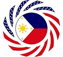 Filipino American Multinational Patriot Flag Series 1.0 Photographic Print