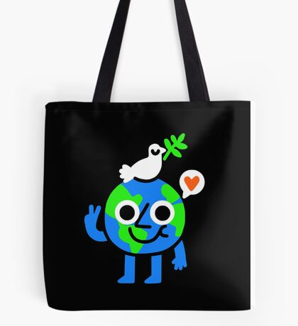 World Peace & Love Tote Bag