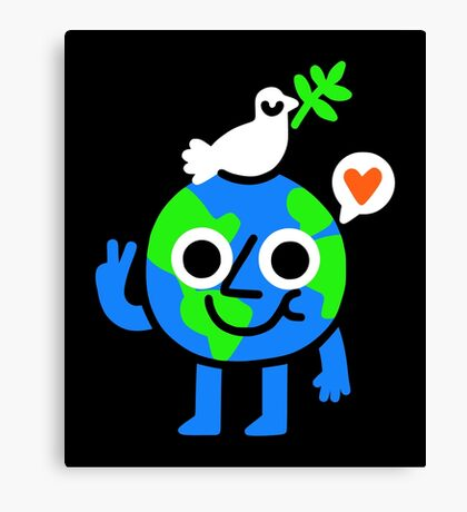 World Peace & Love Canvas Print