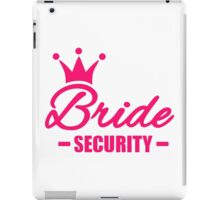 Bride security crown iPad Case/Skin