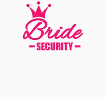 Bride security crown Womens Fitted T-Shirt