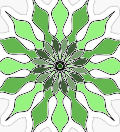 The Emerald Daisy Flower Sticker