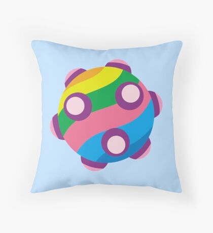 Colorful sticky rolling ball Throw Pillow
