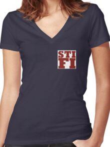STIFI STICKY FINGERS Women's Fitted V-Neck T-Shirt