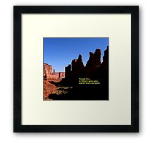 Serenity Lives Framed Print