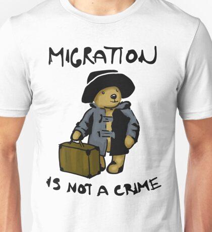 Migration is not a crime Unisex T-Shirt