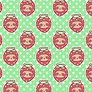Strawberry Sloth Face Pattern by SaradaBoru