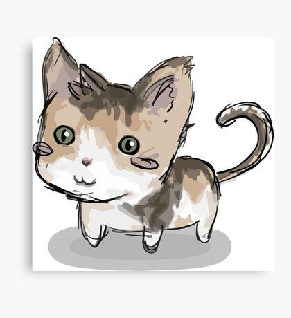 Cat squeegie Canvas Print