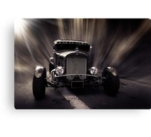 Hot Rod, black and white Canvas Print