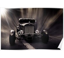 Hot Rod, black and white Poster