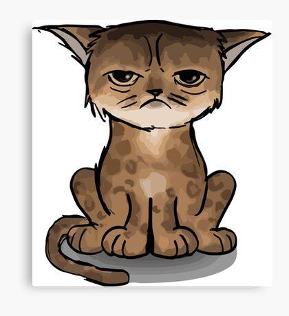 Apache cat Canvas Print