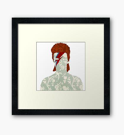 Floral Bowie Framed Print