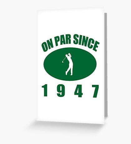 1947 Golfer's Birthday Greeting Card