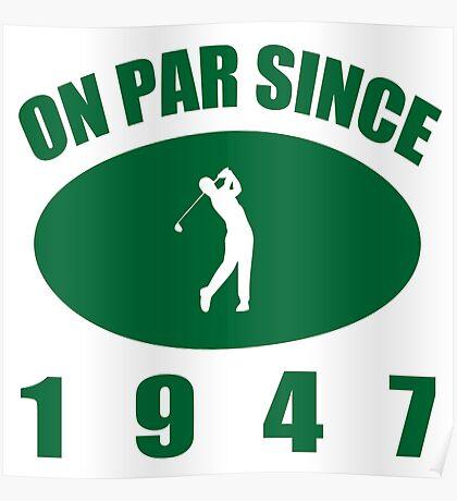 1947 Golfer's Birthday Poster