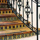 Colorful Tiles & Wrought Iron  by Heather Friedman