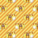 Tabby and Little Sloth Striped Pattern by SaradaBoru