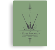 The Three Broomsticks in Gray Canvas Print