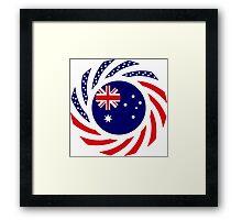 Australian American Multinational Patriot Flag Series Framed Print