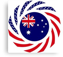 Australian American Multinational Patriot Flag Series Canvas Print